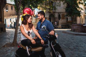 sesión de fotos con motos